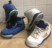 (2) Pair Nike Air Jordan's Sz 7.5C-8C Grape Spizike Suisun City, 94585