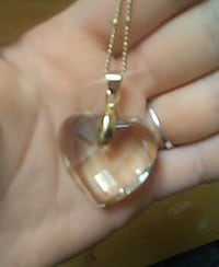 18 in crystal heart