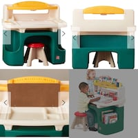 toddler's white and green learning table collage Hamilton, L8E 5L5