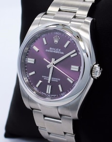 Rolex Oyster Perpetual 116000 Purple Dial 36mm Watch