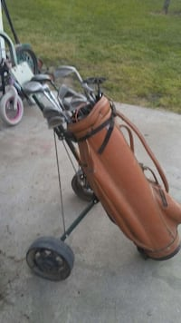 brown leather Golf Clubs bag Oakdale, 95361