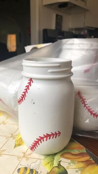 baseball theme  centerpiece jars Fontana, 92335