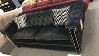 BIGSALE newest Collection Black velvet tufted Livingroom Sofa or loveseat LOWEST PRICES GUARANTEED