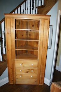 Antique Pine Corner Cupboard