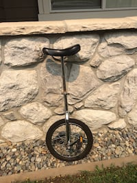 Unicycle with small single wheel