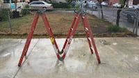 red and black metal ladder Commerce, 90022