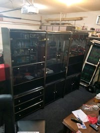 Black and Gold 3piece wall unit with lights Edmonton, T6L 6E4