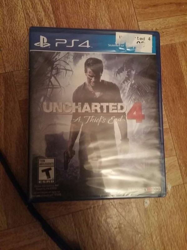 Used Sony PS4 Uncharted 4 A Thief's Ends game case for sale in Brossard - letgo