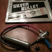 Silver bullet Coors mirror sign and keg tap 2for1 Phenix City, 36867