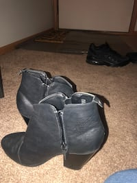 pair of black leather boots Stow, 44224