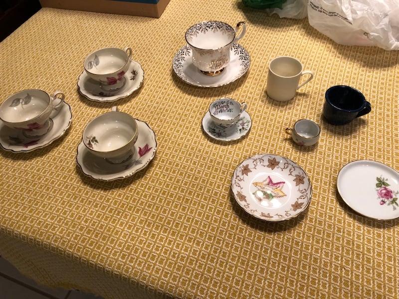 Rare and unique tea cups and saucers.  Some from Germany. England and France.  Free delivery.    7bbf9055-fdca-4005-bc23-f36c270d787a