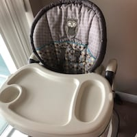 baby's white and gray highchair Toronto, M9C 1A3