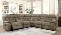 Tan Recliner Sectional  Hollywood, 33020