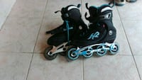 pair of black-and-gray inline skates Markham, L6G 0A2