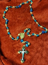 blue and silver beaded necklace Fayetteville, 28314