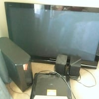 Panasonic flat screen TV and audio speakers Nashua, 03062