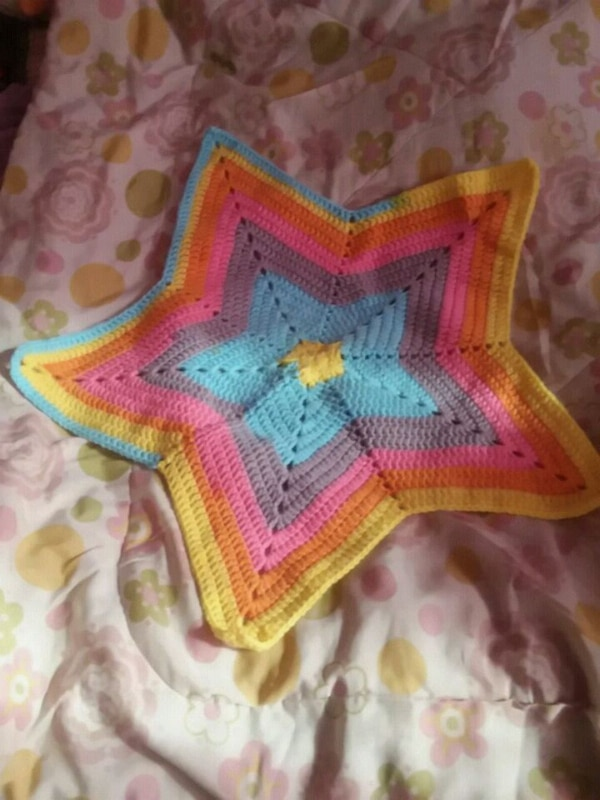 Used Colorful Crochet 5 Point Star Centerpiece For Sale In Bronx Letgo
