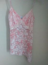 women's pink and white floral sleeveless dress Kingsport, 37660