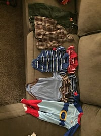 21 pants, 21 shirts, 8 onesies. All range from 3 months to 4T years of age. Never worn clothes. Frederick, 21702