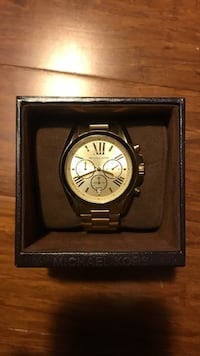 Round gold Michael Kors watch with link bracelet and case Seattle, 98118