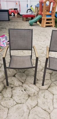 Patio Chairs Brown- set of 2
