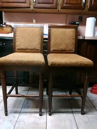 two brown wooden framed  padded chairs East Stroudsburg, 18302