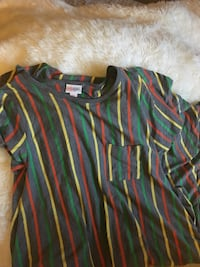 green, blue, and red striped polo shirt Piedmont, 94611