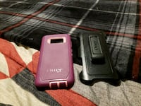 two black and pink Otter Box iPhone cases York, 17401