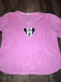 Disney Minnie Mouse pink Girls Sleepwear Sweater size L/12-14