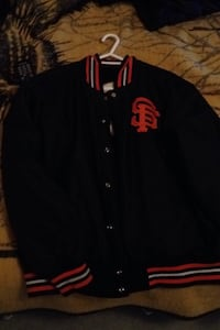 black and red Chicago Bulls letterman jacket 540 km