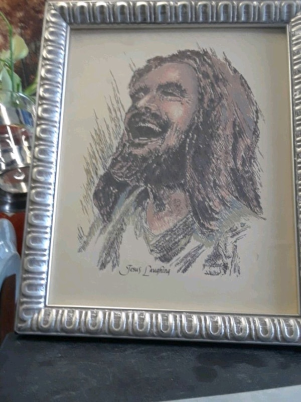 10 x12- picture of laughing JESUS. 04202b08-840e-47fe-87f1-5b39767966fd