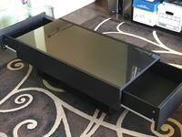 IKEA glass top coffee table with drawers Anaheim, 92807