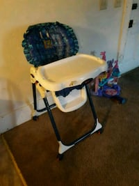 baby's white and blue high chair 198 mi