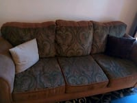 brown and gray floral 3-seat sofa Lancaster, 93534