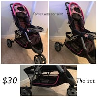 Baby's black and pink stroller with car seat  Oakland Park, 33334