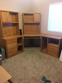 brown wooden TV hutch with cabinet Las Vegas, 89149