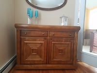 Dining Set (Table, Chairs, 2 Leaves, Buffet, China Cabinet) ALEXANDRIA
