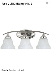 "3 Light Bathroom Vanity Light with Etched Glass Shades - 24"" Wide Halethorpe, 21227"