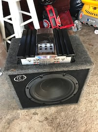 black and gray subwoofer speaker Carle Place, 11514