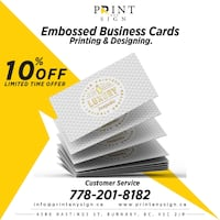 Embossed Business Card's