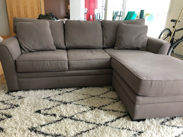 Superb Gray Couch With Chaise Pabps2019 Chair Design Images Pabps2019Com