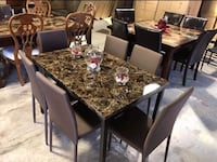 Dining table with chairs brand new in the box  fast delivery available  Richardson, 75081