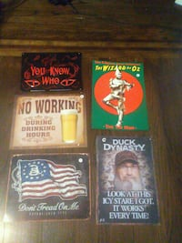 Cool tin signs. Wizard of Oz, American flag, beer+ 230 mi