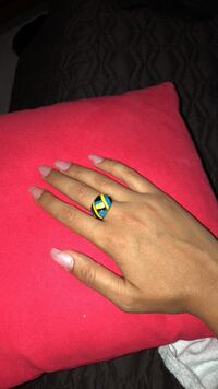 Blue black and yellow ring New Tecumseth, L9R