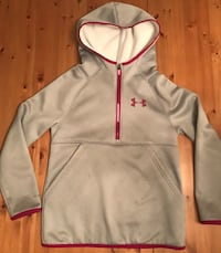 Under Armour Junior Girls Storm Hoodie Pull Over 1/4zipper Loose Fit Kangaroo Pocket Size M 10/12 Alexandria, 22304