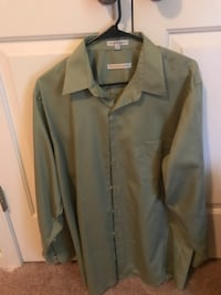 Men's olive green dress shirt Elgin, 29045