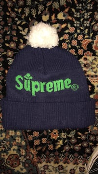 blue and green supreme knitted cap Springdale, 72764