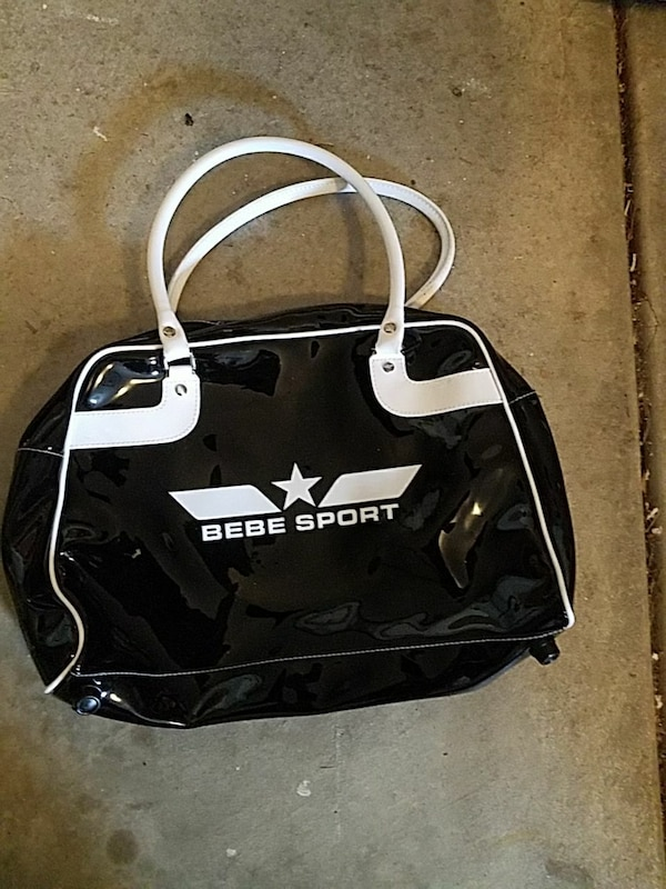 c6ba543a89d0 Used black and white Bebe Sport duffel bag for sale in Fremont - letgo