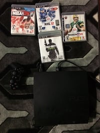 PS3 slim 160gb with 2 controllers and games Langley, V4W 4A7