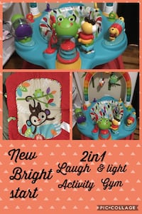 Bright start 2in1 laugh and light activity gym